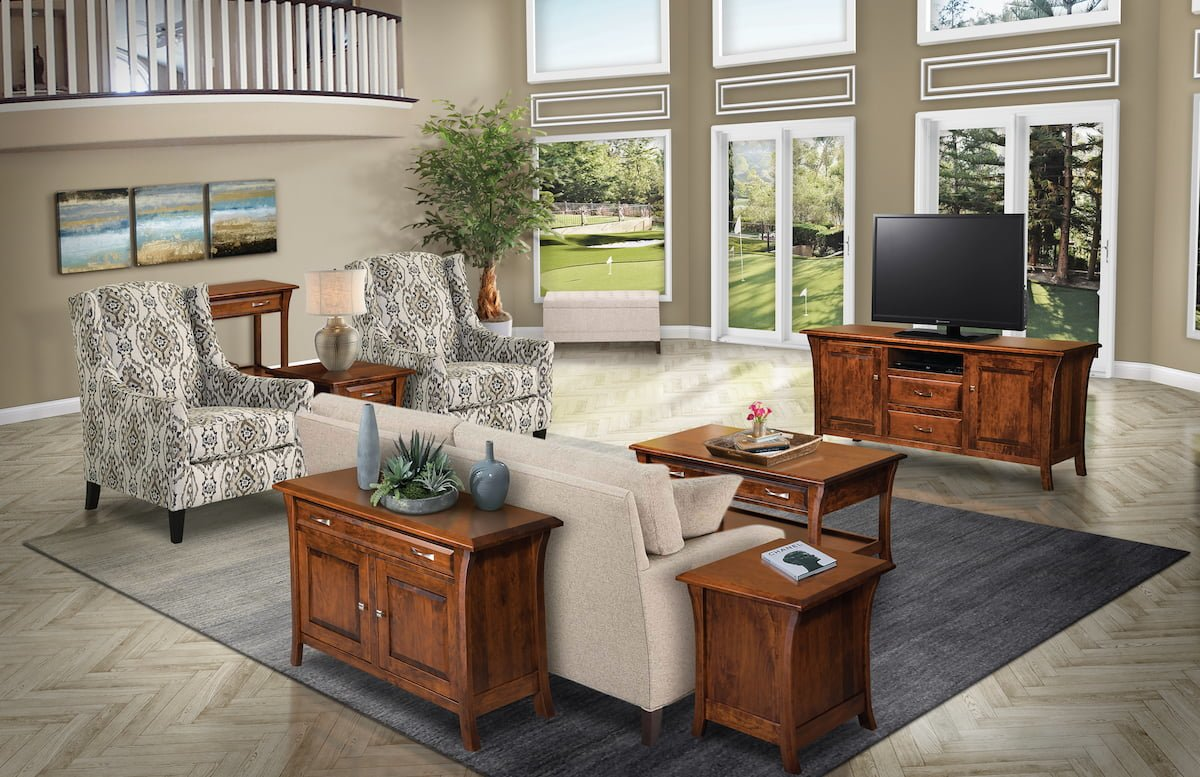 amish built living room set usa furniture and leather