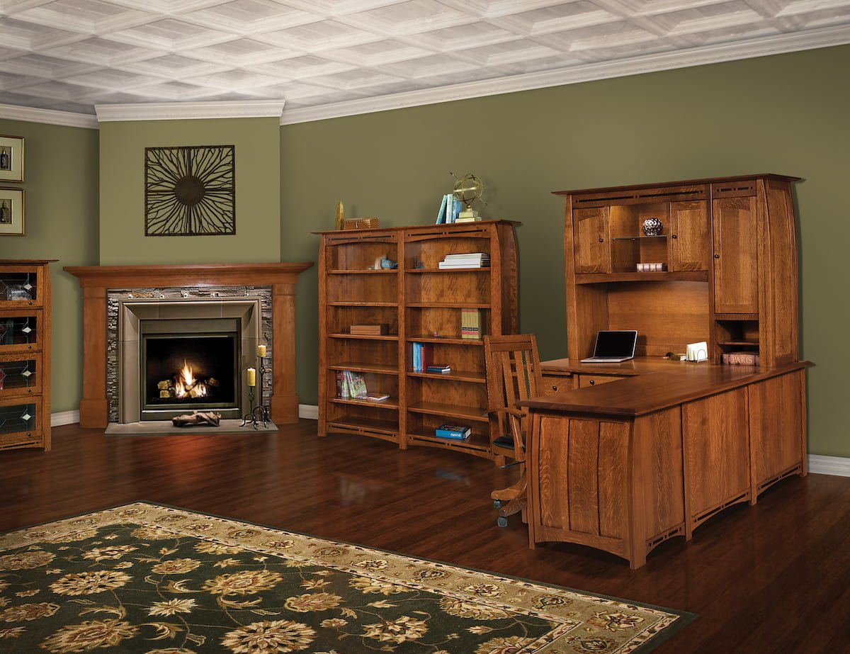 amish built office set usa furniture and leather