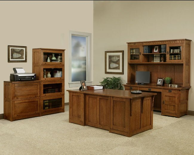 amish built office suite usa furniture and leather