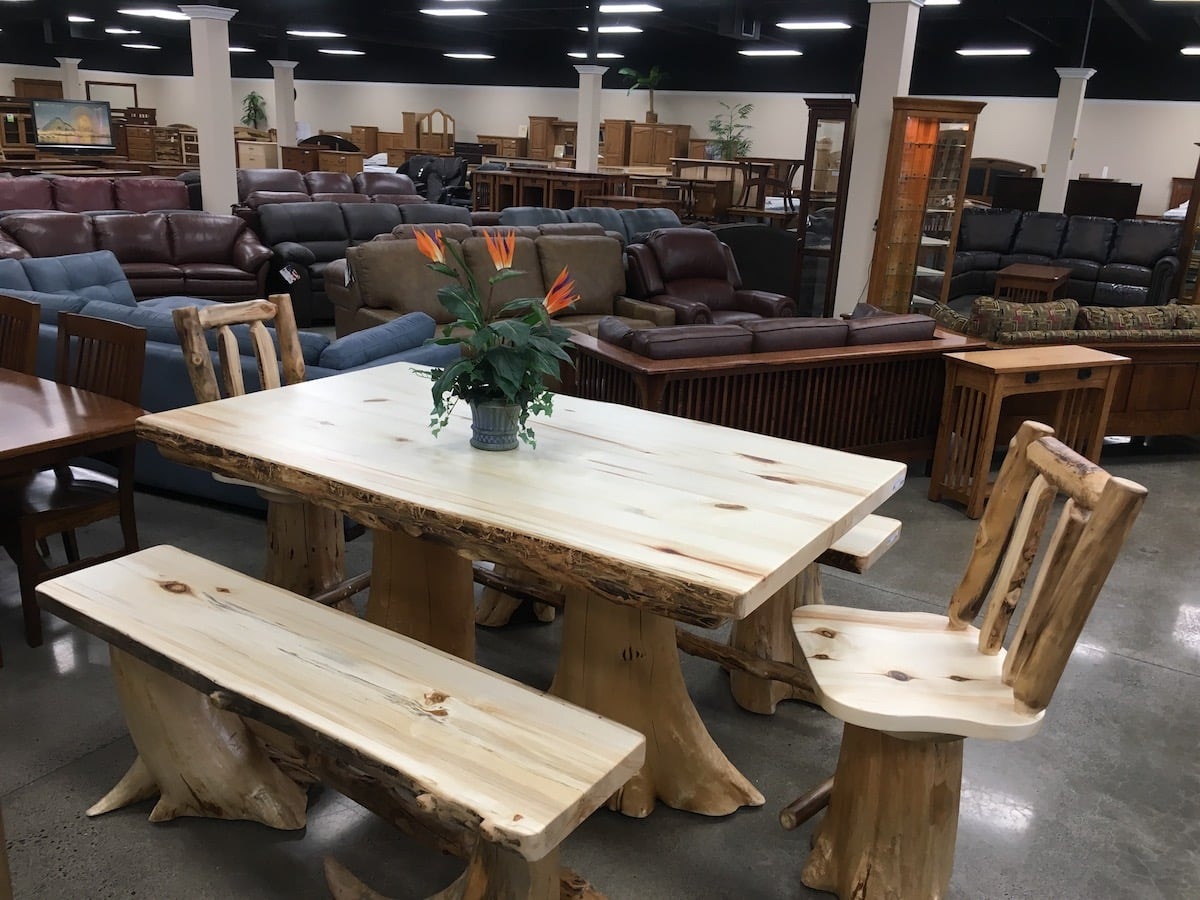 oak inline usa furniture and leather interior