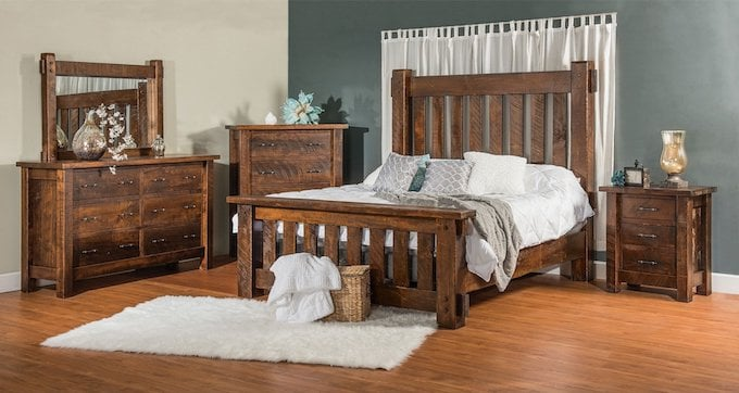 rustic amish bedroom set usa furniture and leather