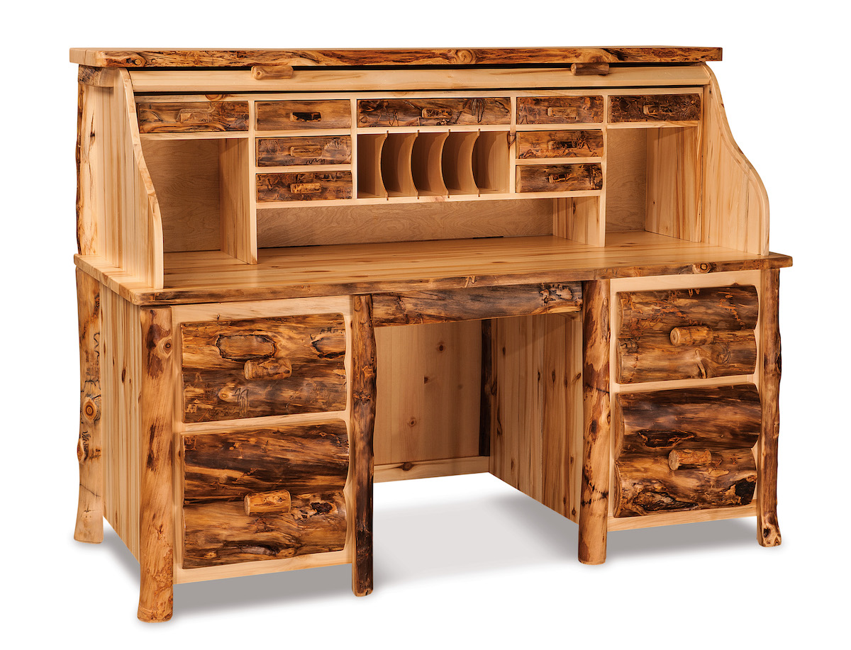 rustic style roll top desk usa furniture and leather
