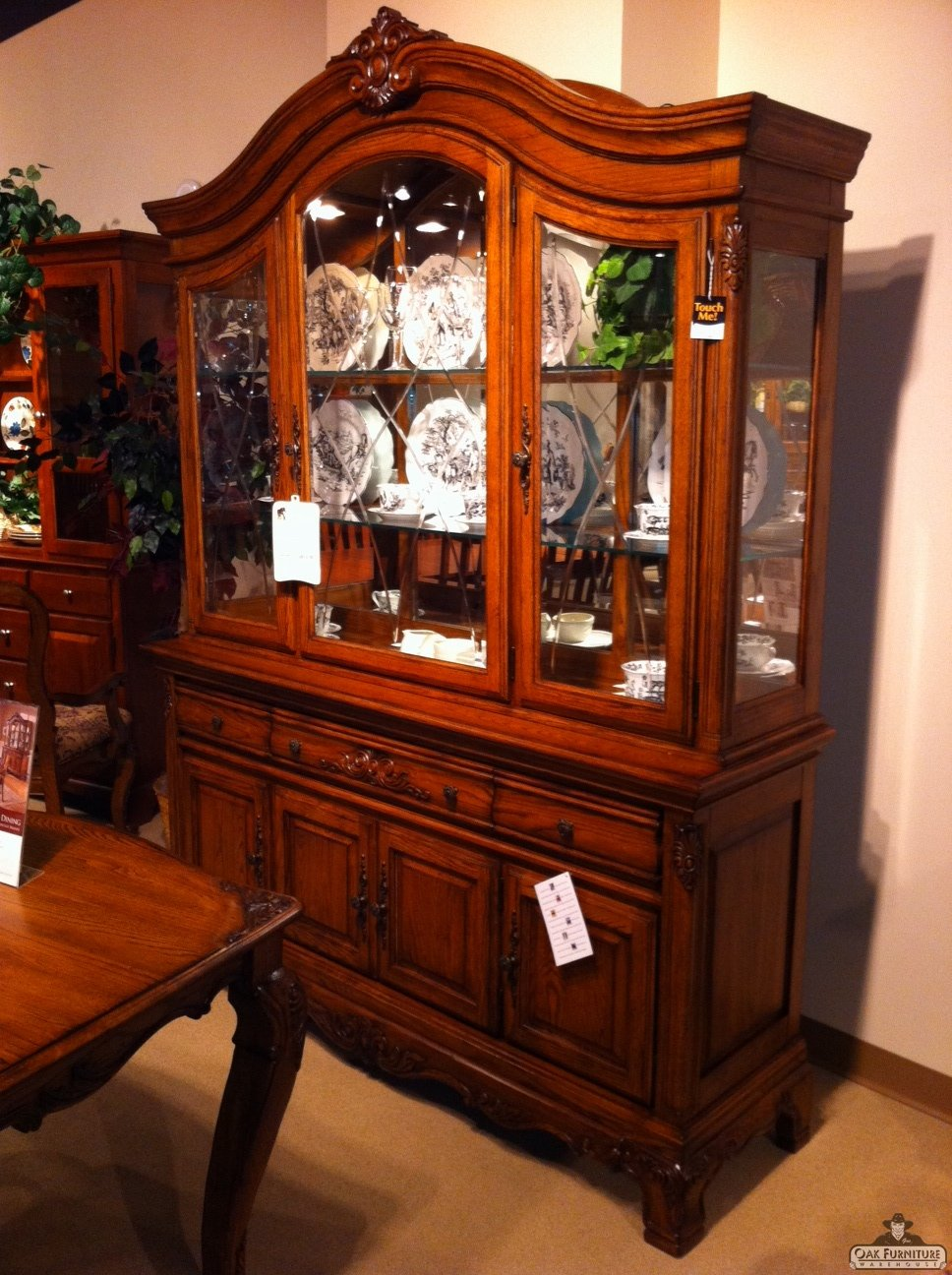 traditional style dining room hutch usa furniture and leather