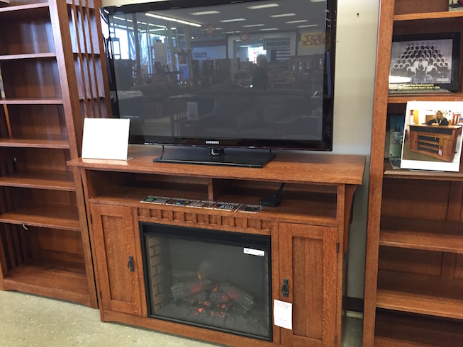 American made TV Stands fireplace insert electric